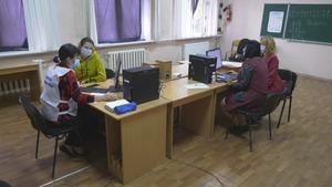 Жители прифронтового поселка Фрунзе проголосовали на выборах в Госдуму за мирное будущее