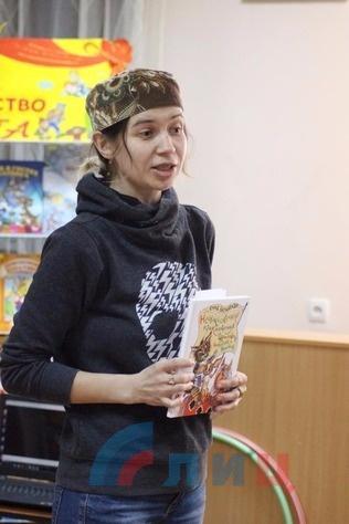 Открытие Недели детской книги в библиотеке для детей, Луганск, 27 марта 2017 года