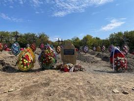 Церемония перезахоронения еще 10 останков жертв ВСУ прошла в прифронтовом Первомайске