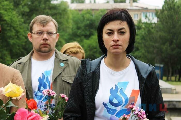 Акция памяти о погибших детях Республики в парке имени Щорса, Луганск, 1 июня 2016 года