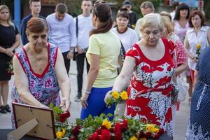 Активисты почтили память жителей Юбилейного, погибших 7 лет назад при обстреле поселка