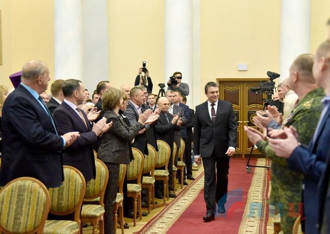 Церемония вступления Леонида Пасечника в должность главы ЛНР, Луганск, 21 ноября 2018 года