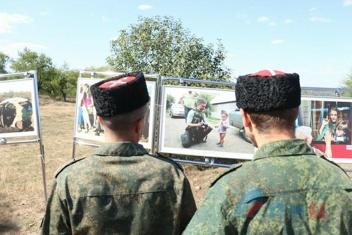 Церемония перезахоронения 28 останков жертв украинской агрессии, Первомайск, 8 сентября 2021 года