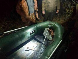 Инспекторы Минприроды составили протоколы на мужчин, бивших рыбу острогой