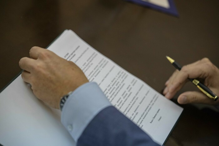 Подписание главами ЛНР и ДНР договора о создании единой таможенной территории и развитии экономической интеграции, Луганск, 15 сентября 2021 года